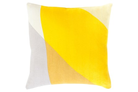 Accent Pillow-Color Block Yellow Multi 22X22 - Main