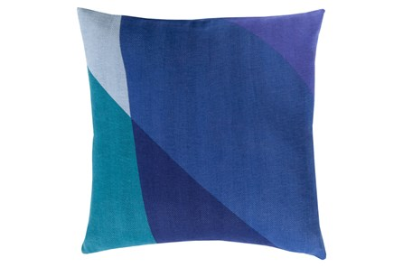 Accent Pillow-Color Block Blue Multi 22X22 - Main