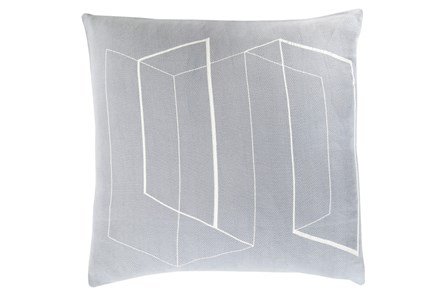 Accent Pillow-Rooms Geo Slate/Ivory 22X22 - Main