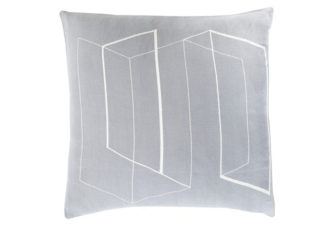 Accent Pillow-Rooms Geo Slate/Ivory 22X22 - 360