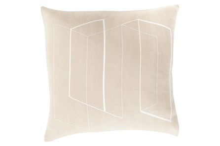 Accent Pillow-Rooms Geo Light Grey/Ivory 22X22 - Main
