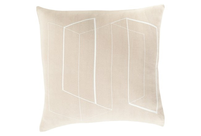 Accent Pillow-Rooms Geo Light Grey/Ivory 22X22 - 360