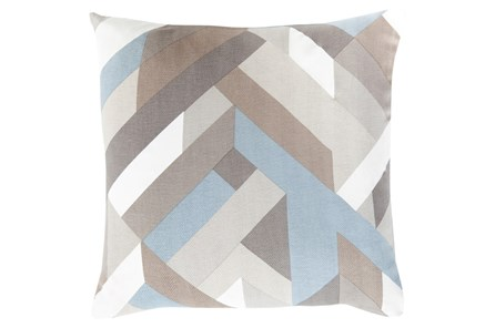 Accent Pillow-Seraphina Woven Geo Grey Mutlti  22X22