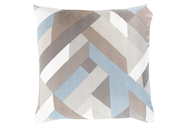 Accent Pillow-Seraphina Woven Geo Grey Mutlti  22X22 - 360