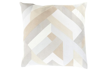 Accent Pillow-Seraphina Woven Geo Natural Multi 20X20 - Main