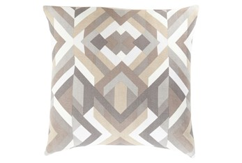 Accent Pillow-Tora Woven Geo Grey Multi 22X22