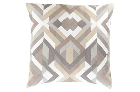 Accent Pillow-Tora Woven Geo Grey Multi 22X22 - Main