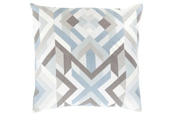 Accent Pillow-Tora Woven Geo Grey Multi 20X20