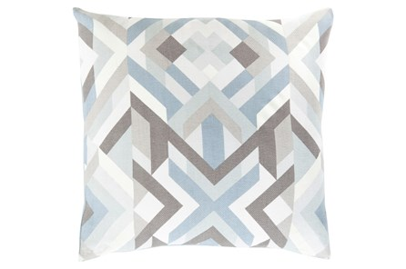 Accent Pillow-Tora Woven Geo Grey Multi 20X20 - Main