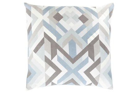 Accent Pillow-Tora Woven Geo Grey Multi 22X22
