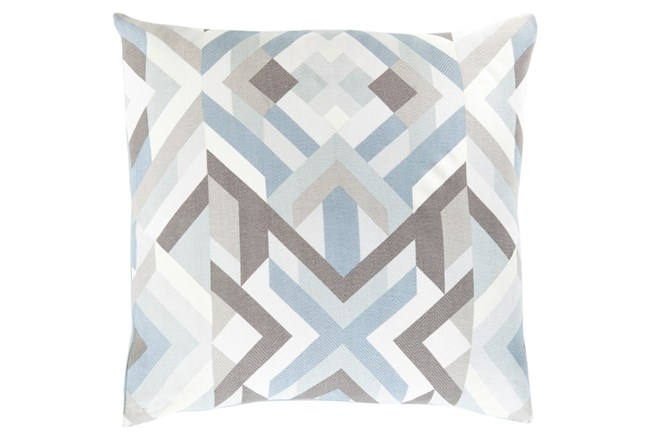 Accent Pillow-Tora Woven Geo Grey Multi 22X22 - 360