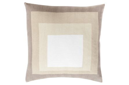 Accent Pillow-Seraphina Squares Natural Multi 20X20 - Main