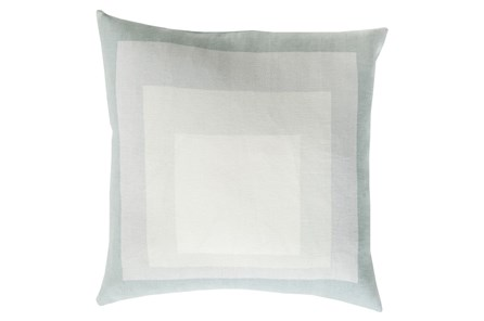 Accent Pillow-Seraphina Squares Ivory/Light Grey 22X22