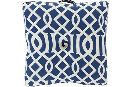 Accent Pillow-Stanley Geo Cobalt/Ivory 22X22