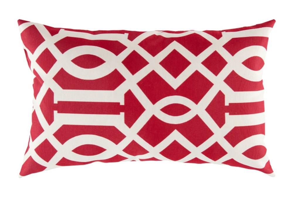 Accent Pillow-Stanley Geo Cherry/Ivory 13X20