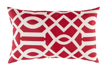 Accent Pillow-Stanley Geo Cherry/Ivory 13X20