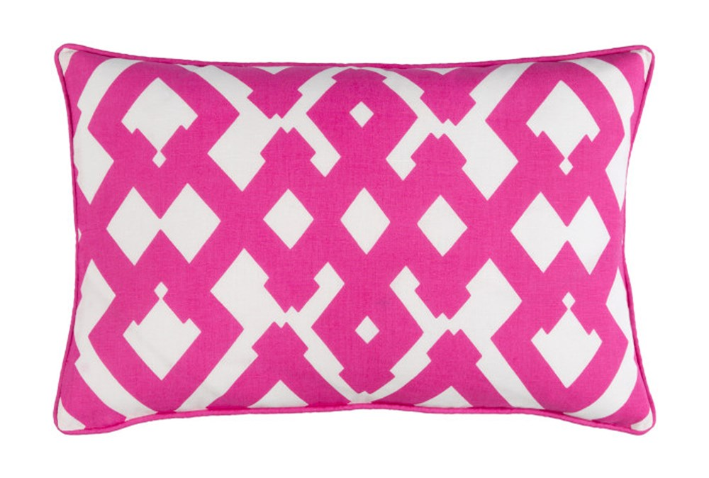 Accent Pillow-Langley Zig Zag Geo Pink/Ivory 13X20