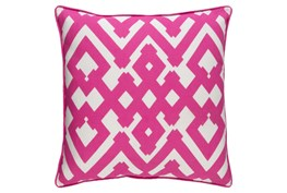 Accent Pillow-Langley Zig Zag Geo Pink/Ivory 20X20