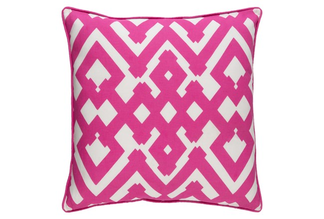 Accent Pillow-Langley Zig Zag Geo Pink/Ivory 20X20 - 360