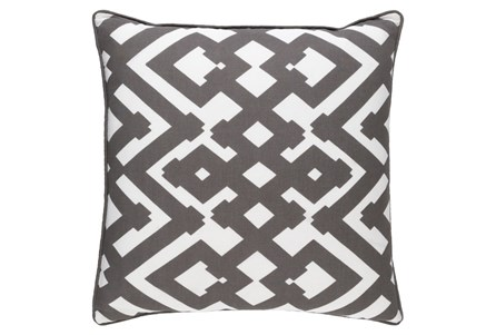 Accent Pillow-Langley Zig Zag Geo Charcoal/Ivory 20X20