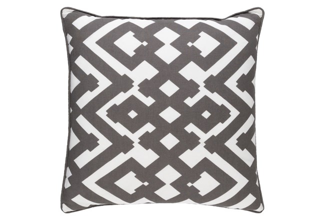 Accent Pillow-Langley Zig Zag Geo Charcoal/Ivory 20X20 - 360