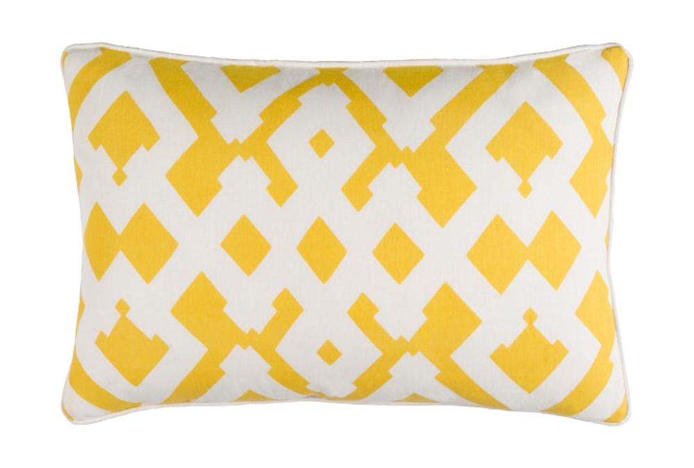 Accent Pillow-Langley Zig Zag Geo Sunflower/Ivory 13X20