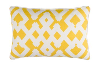 Accent Pillow-Langley Zig Zag Geo Sunflower/Ivory 13X20