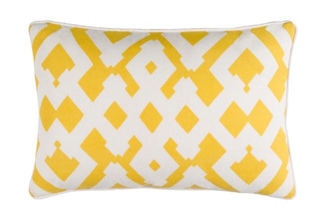 Accent Pillow-Langley Zig Zag Geo Sunflower/Ivory 13X20 - 360