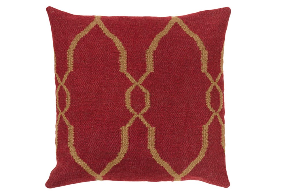 Accent Pillow-Mallory Burgundy 18X18