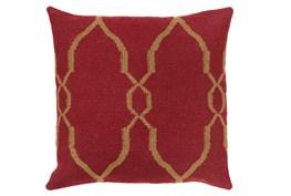 Accent Pillow-Mallory Burgundy 22X22