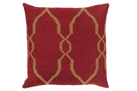 Accent Pillow-Mallory Burgundy 22X22 - Main