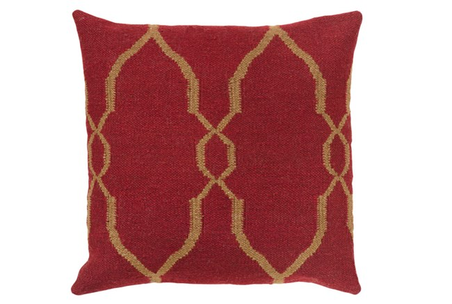 Accent Pillow-Mallory Burgundy 22X22 - 360
