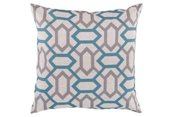 Accent Pillow-Joey Teal/Grey 18X18