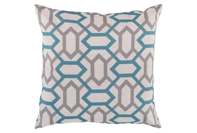 Accent Pillow-Joey Teal/Grey 18X18 - 360