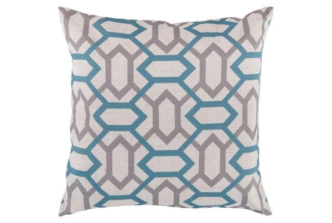 Accent Pillow-Joey Teal/Grey 22X22 - 360