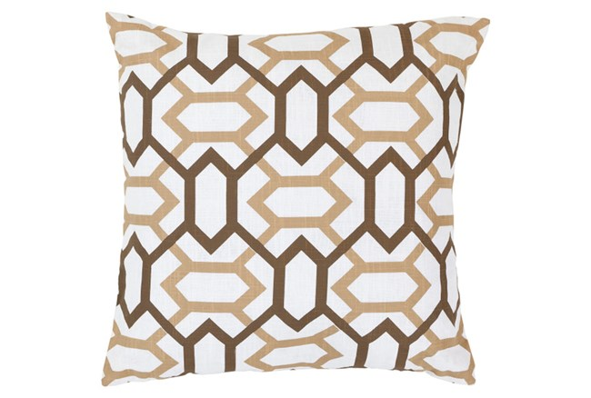Accent Pillow-Joey Ivory/Chocolate 18X18 - 360