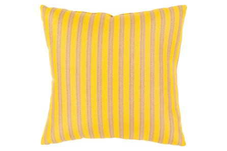 Accent Pillow-Brinley Stripe Sunflower 16X16