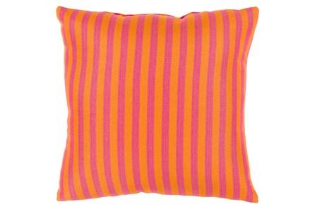 Accent Pillow-Brinley Stripe Orange 16X16 - Main