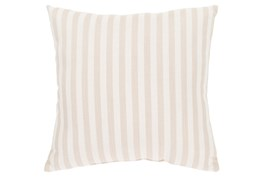Accent Pillow-Brinley Stripe Ivory 16X16