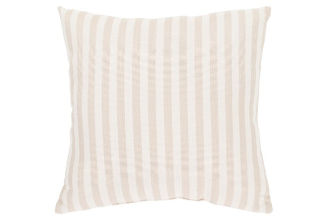 Accent Pillow-Brinley Stripe Ivory 16X16 - 360