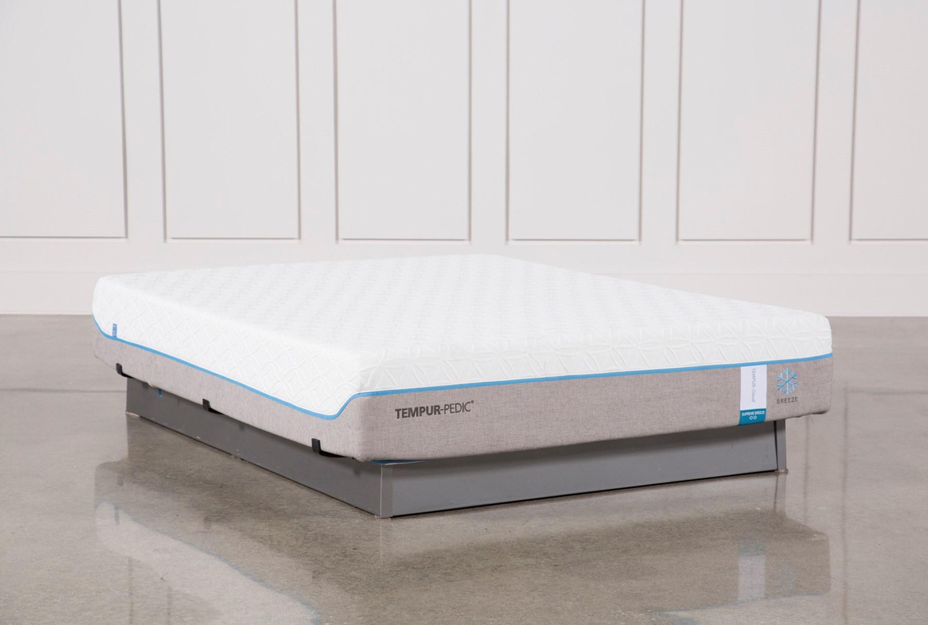 tempur pedic cloud supreme flex supreme tempurpedic cloud supreme breeze 20 queen mattress qty 1 has been successfully added to your cart living spaces