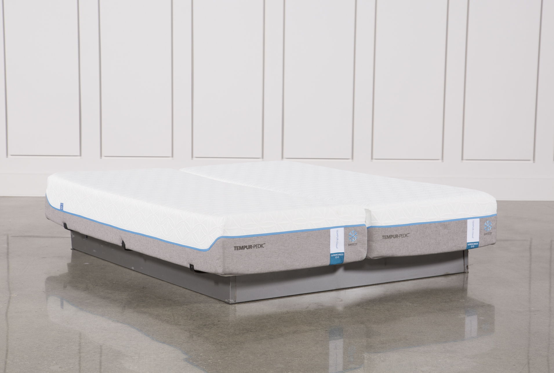 Tempur-Pedic Cloud Supreme Breeze 2.0 Cal King Split Mattress Set (Qty: 1)  has been successfully added to your Cart.
