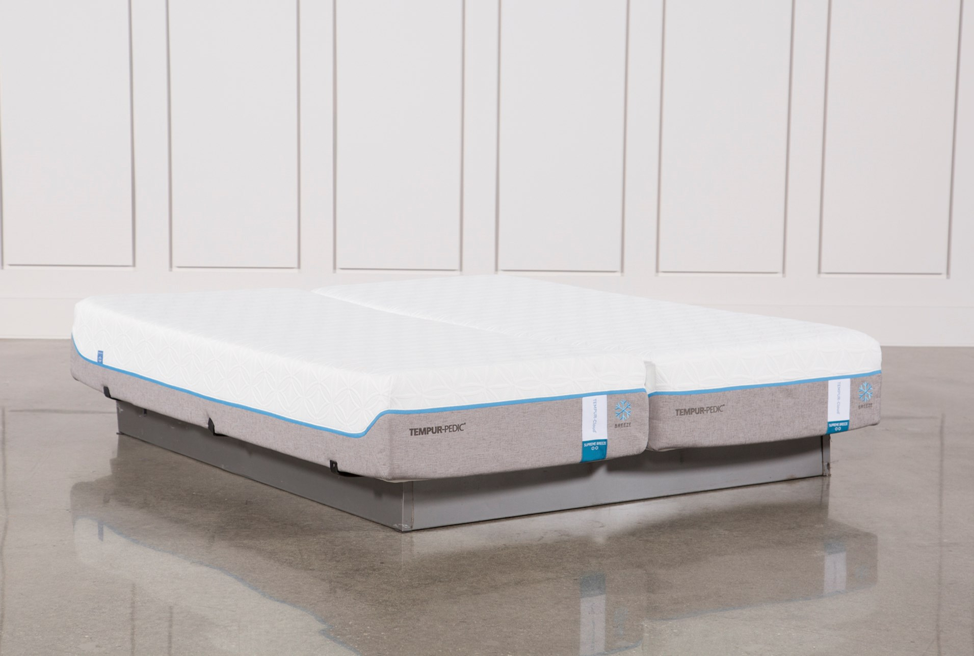 Tempur Pedic Cloud Supreme Breeze 2 0 East King Split Mattress Set