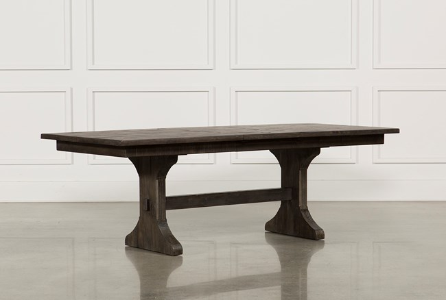 Valencia 72 Inch Extension Trestle Dining Table - 360