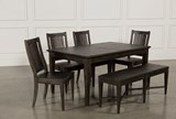 Valencia 64 Inch 6 Piece Extension Dining Set - Top