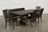 Valencia 72 Inch 6 Piece Dining Set - Back