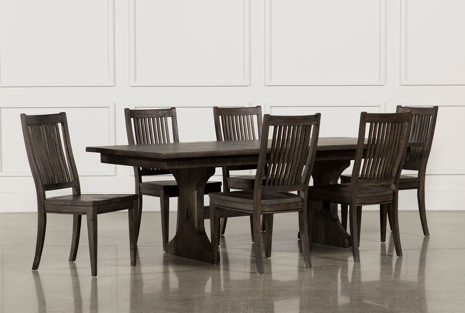 Valencia 72 Inch Extension Trestle Dining Table Living Spaces