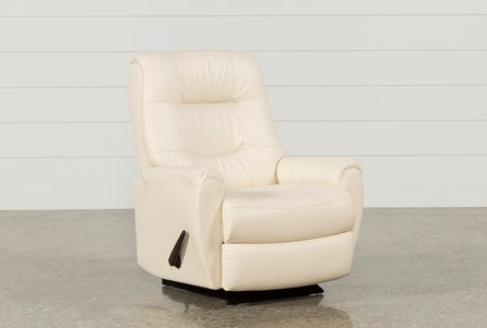 Rogan Leather Ivory Rocker Recliner