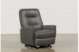 Rogan Leather Grey Power Wallaway Recliner