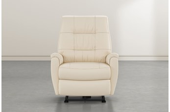 Rogan II Cream Leather Power Wallaway Recliner